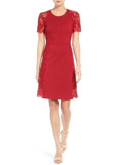 Elie Tahari Hudson Lace Appliqué Fit & Flare Dress