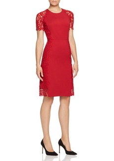 Elie Tahari Hudson Lace Side Dress