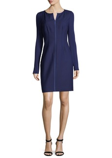 Elie Tahari Iman Long-Sleeve Stretch-Wool Dress