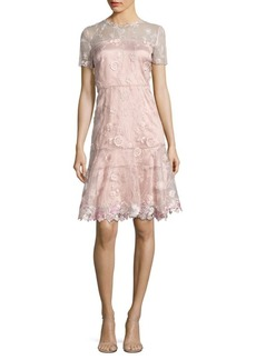 Elie Tahari Inez Embroidered Dress