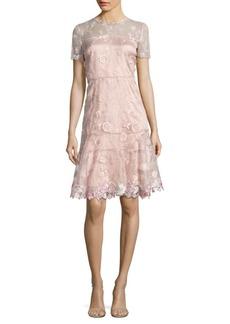 Elie Tahari Inez Embroidered Dress