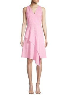 Elie Tahari Isa Diagonal Ruffle A-Line Dress