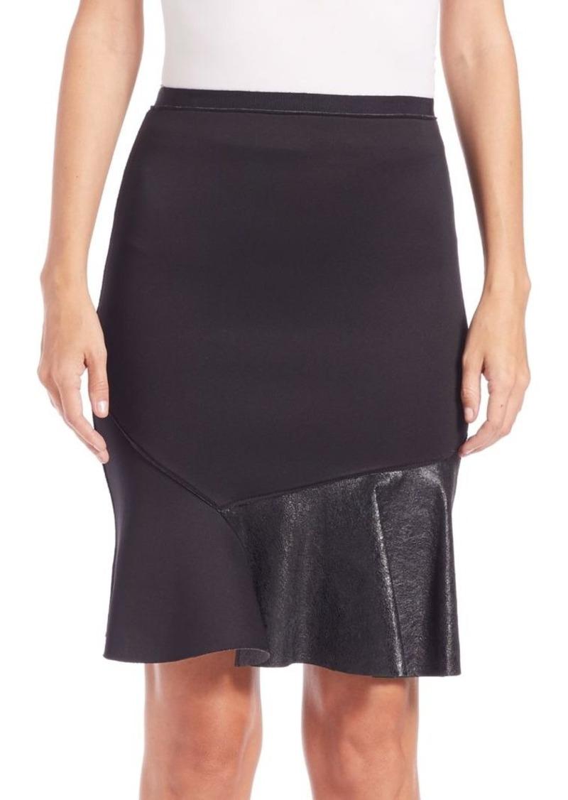 Elie Tahari Isabella Flippy Scuba Skirt