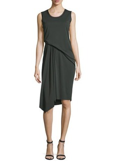 Elie Tahari Isolde Sleeveless Draped Dress