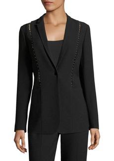 Elie Tahari Ivy Embellished Crepe Jacket