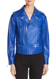 Elie Tahari Jacalyn Leather Moto Jacket - 100% Exclusive