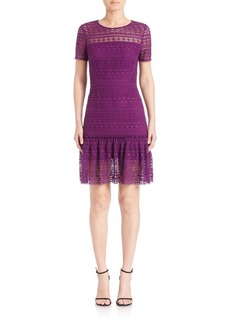 Elie Tahari Jacey Fit-and-Flare Lace Dress