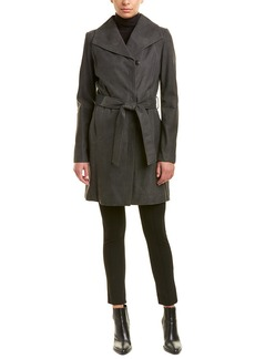 Elie Tahari Jacqueline Leather Coat