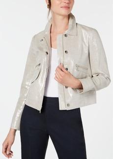 Elie Tahari Jacquelyn Metallic Jacket