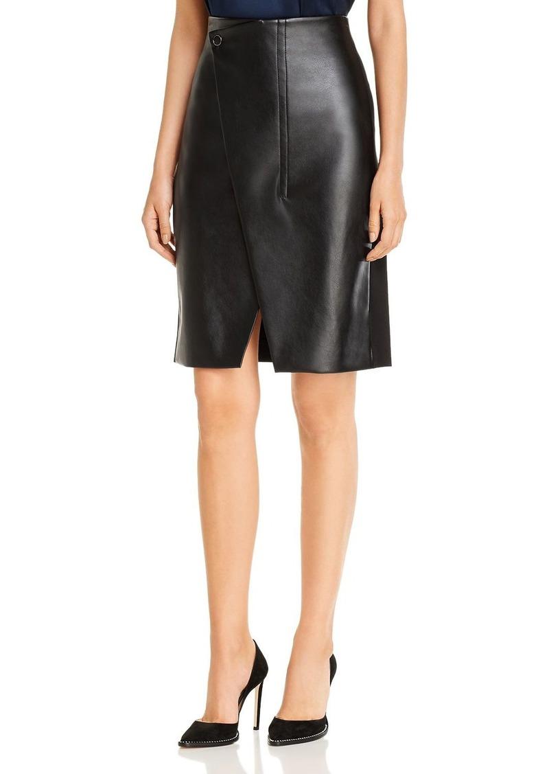 Elie Tahari Jade Faux-Leather Pencil Skirt