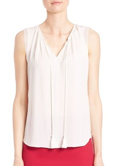 Elie Tahari Jandra Sleeveless Silk Blouse