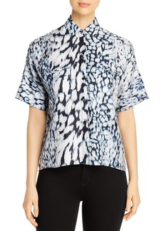 Elie Tahari Jane Printed Collared Shirt