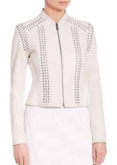 Elie Tahari Janet Leather Jacket