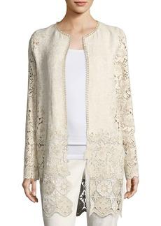 Elie Tahari Jaya Floral Lace Coat