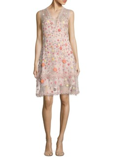 Elie Tahari Jayla Embroidered Silk Organza Dress
