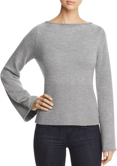 Elie Tahari Jazma Lace-Up-Back Sweater