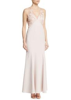 Elie Tahari Jazzaleen Embellished Sheer Sleeveless Dress
