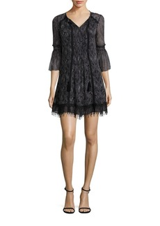 Elie Tahari Jeannie Pleated Silk Dress