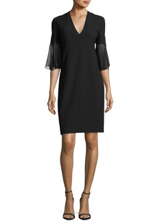Elie Tahari Jeffra Half-Sleeve Shift Dress