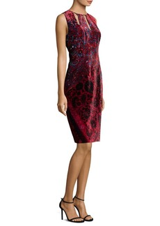 Elie Tahari Jemra Printed Velvet Dress