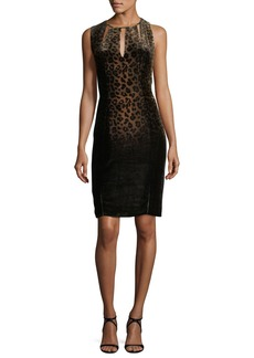 Elie Tahari Jemra Sleeveless Leopard-Print Dress