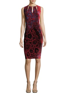 Elie Tahari Jemra Sleeveless Printed Satin Dress