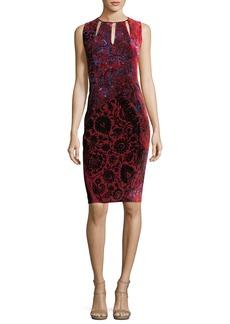 Elie Tahari Jemra Sleeveless Printed Satin Dress