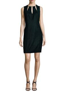 Elie Tahari Jemra Sleeveless Velvet Dress