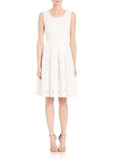 Elie Tahari Jessy Lasercut Dress