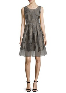 Elie Tahari Jessy Sleeveless Fit-&-Flare Dress