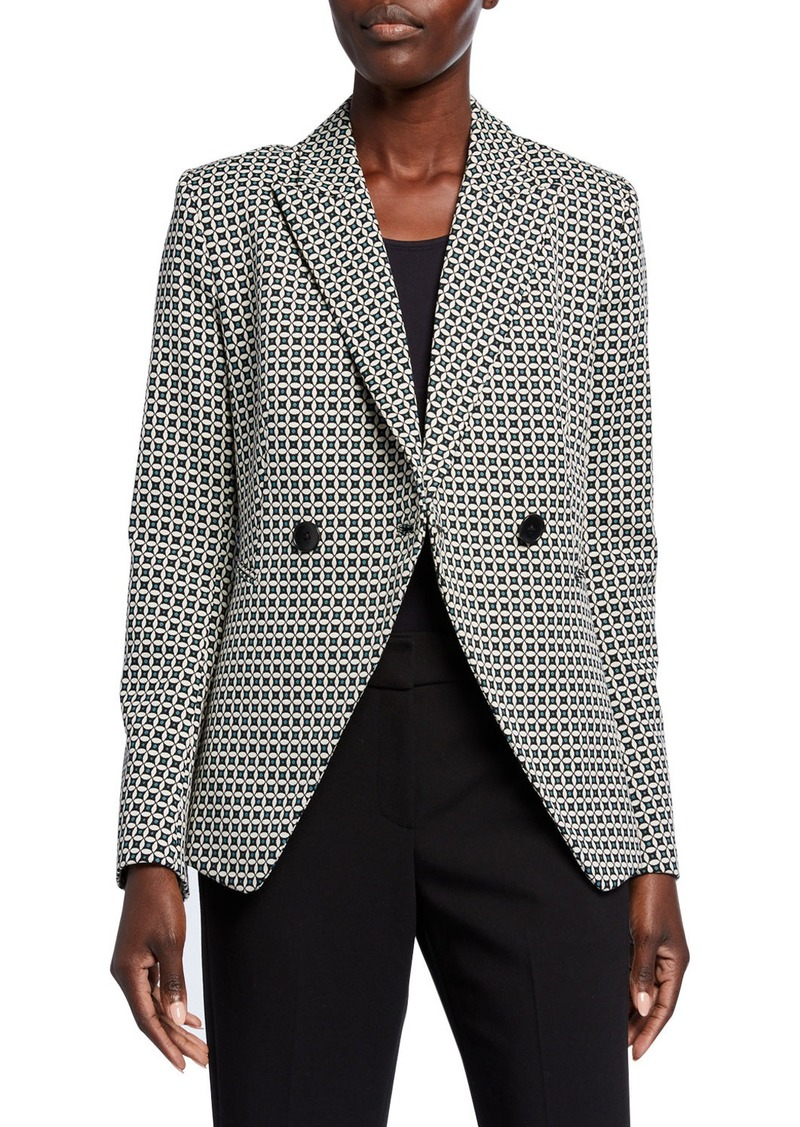 Elie Tahari Jezebel Geo Double-Breasted Jacket