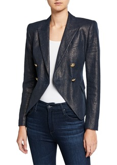 Elie Tahari Jezebel Metallic Double-Breasted Jacket