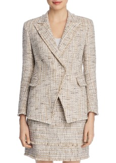 Elie Tahari Jezebel Metallic Tweed Blazer