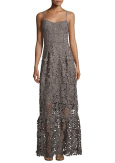 Elie Tahari Jill Lace Sleeveless Maxi Dress