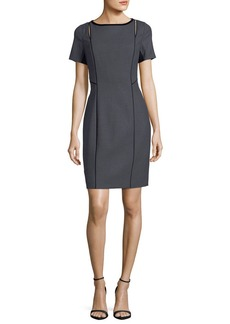 Elie Tahari Jonas Cutout Short-Sleeve Dress