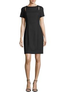 Elie Tahari Jonas Cutout Short-Sleeve Dress