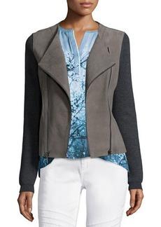 Elie Tahari Joplin Leather & Wool Jacket