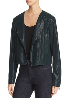 Elie Tahari Julia Leather Moto Jacket