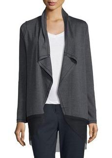 Elie Tahari Julianne Knit Jacket w/ Mesh Hem