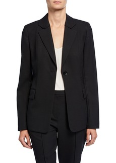 Elie Tahari Julie One-Button Wool Jacket