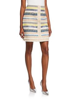 Elie Tahari Julietta Textured Multi Skirt