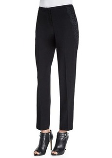 Elie Tahari Jullian Ankle Pants w/Lace Detail