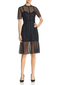 Elie Tahari Kaila Mixed Lace Dress