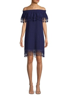 Elie Tahari Kalla Off-The-Shoulder Dress
