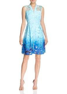 Elie Tahari Kalli Ombr� Lace Dress