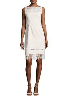 Elie Tahari Kallista Sleeveless Lace-Trim Sheath Dress