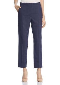Elie Tahari Karis Check Straight Pants