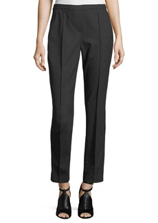 Elie Tahari Karis Plaid Stretch-Wool Straight-Leg Pants
