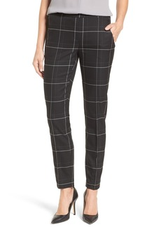 Elie Tahari 'Karis' Windowpane Plaid Slim Pants