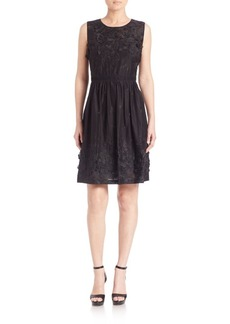 Elie Tahari Kia Embellished Cotton Dress